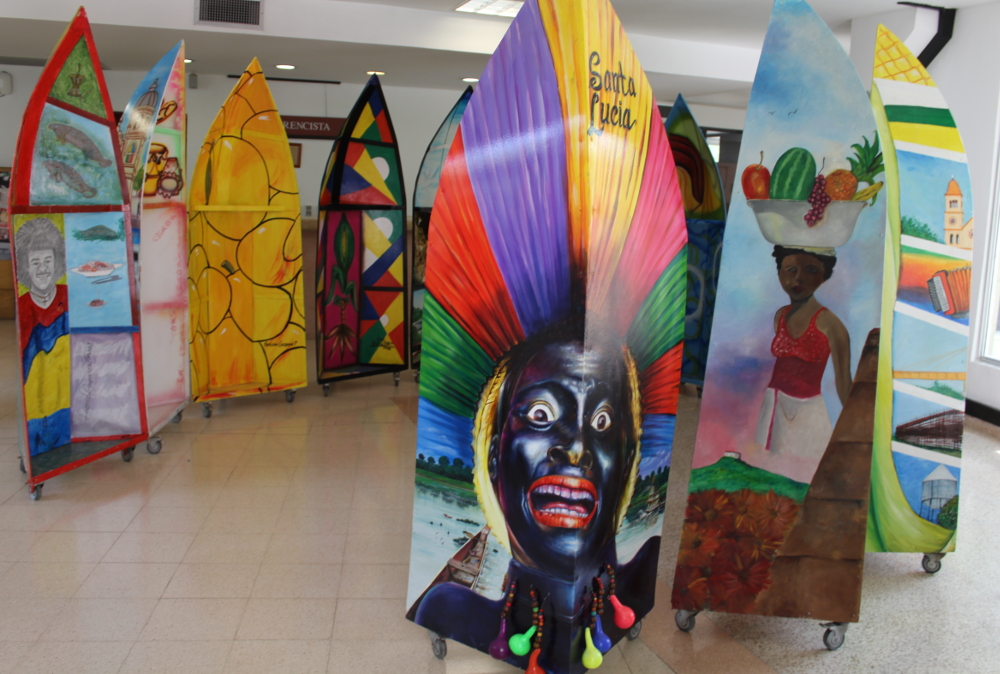 La magia del arte popular de las zonas costeras al Canal del Dique se tomó a la UTB