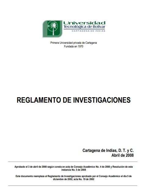 Reglamento de investigaciones