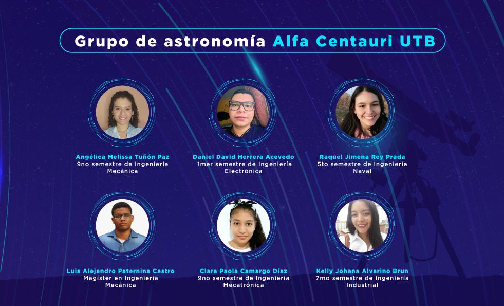 integrantes grupo astronomia UTB logro I Hackathon del Centro de Información Galileo Chile
