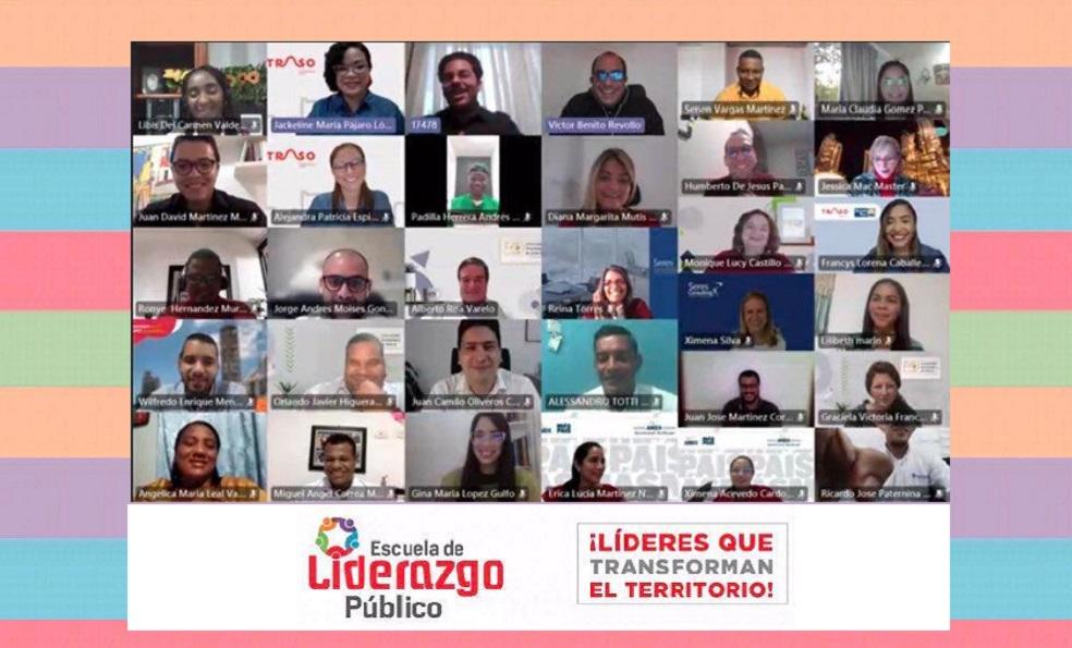 Sesion virtual certificación Escuela Liderazgo Publico