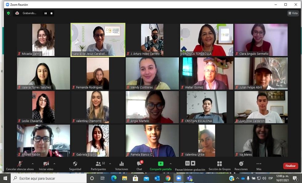 sesion virtual escuela verano Universidad Tecnologica Bolivar
