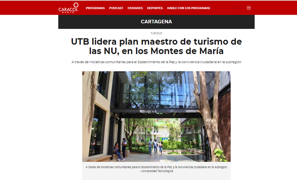 plan maestro de turismo en los Montes de María.